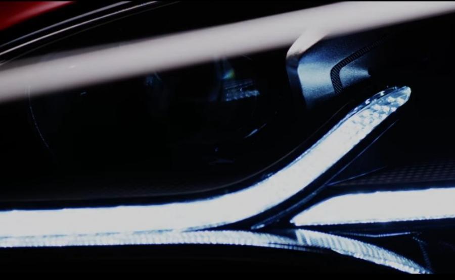 Reflektor nowego modelu Kia