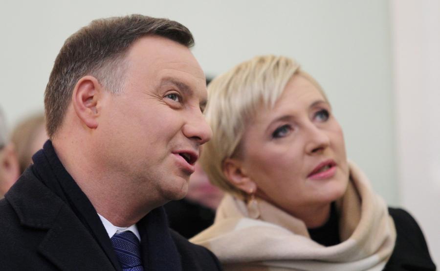 Andrzej Duda i Agata Kornhauser-Duda w Orszaku Trzech Króli w Cieszynie