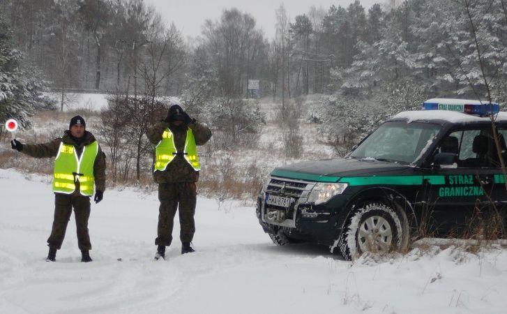 Patrol Straży Granicznej z Węgorzewa