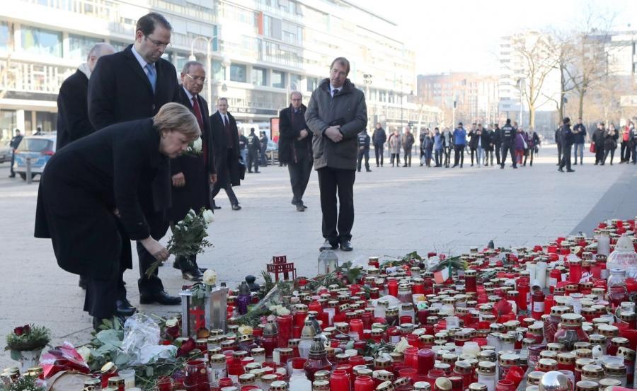 Angela Merkel i Jusef Szahid